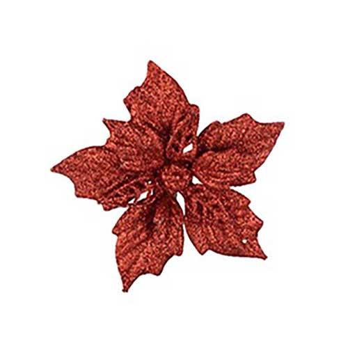 Stella di Natale rossa con clip set 2 pezzi