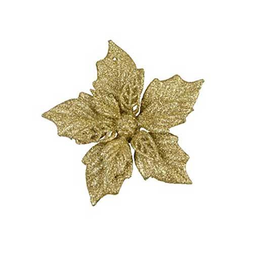 Stella di Natale oro con clip set 2 pezzi