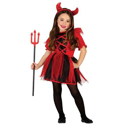 Costume Diavolessa Bimba 3 - 4 anni