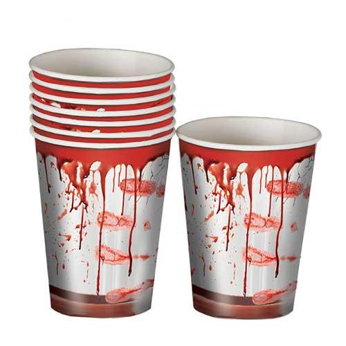 Bicchieri Horror insanguinati 8 pezzi