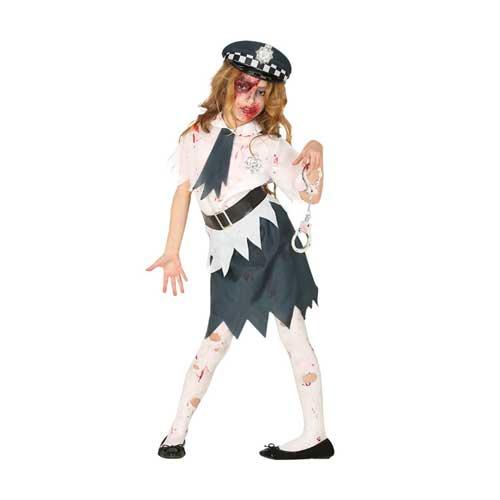 Costume Zombie Poliziotta 10 - 12 anni