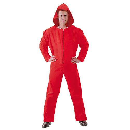 Tuta rossa con cappuccio Papel