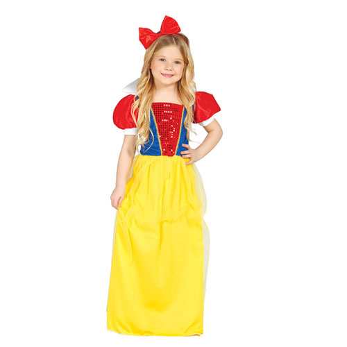 Costume stile Biancaneve bimba 5 - 6 anni