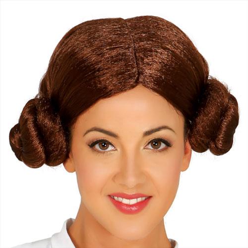 Parrucca stile Principessa Leila